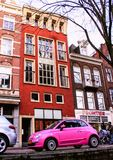 Architecture of Holland. Buildings and canals in Amsterdam. royalty free stock images