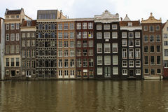Amsterdam, Holland - traditional houses in the city Royalty Free Stock Images