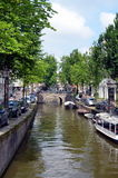 Amsterdam, Holland. View on canal in Amsterdam, Holland Royalty Free Stock Photo