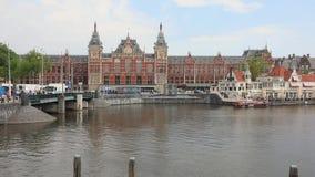 Amsterdam Hollande centrale banque de vidéos