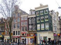 Amsterdam homes and shops 0869 Royalty Free Stock Photography