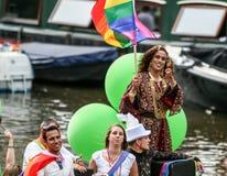 Amsterdam Homoseksualna duma 2015 Zdjęcia Stock