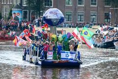 Amsterdam Homoseksualna duma 2015 Zdjęcie Stock