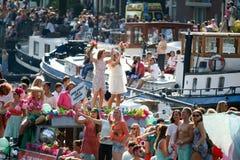 Amsterdam Homoseksualna duma 2015 Zdjęcie Royalty Free