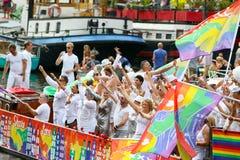 Amsterdam Homoseksualna duma 2015 Zdjęcia Royalty Free