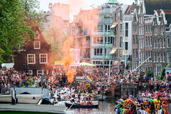 Amsterdam Homoseksualna duma 2015 Fotografia Stock