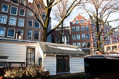 Amsterdam House Boat Stock Images
