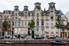 Amsterdam house facade. Ancien typical Amsterddam house next to de canal Stock Photography