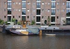 Amsterdam houseboat Stock Photo