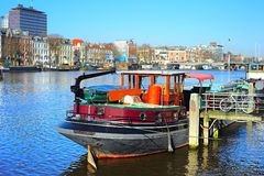 Amsterdam houseboat Stock Photo
