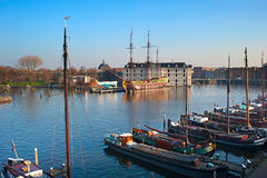 Amsterdam houseboat Royalty Free Stock Photo