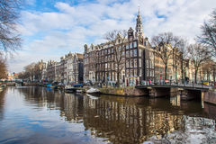 Amsterdam Houses Royalty Free Stock Photo