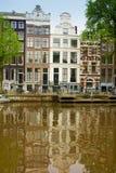 amsterdam houses gammal Nederländerna Royaltyfria Bilder