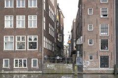 amsterdam houses gammalt Arkivfoton