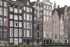 amsterdam houses gammalt Arkivfoto