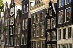 amsterdam houses gammalt Royaltyfria Bilder