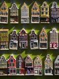 amsterdam houses modellen Arkivfoto