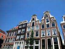 amsterdam houses Nederländerna Royaltyfri Bild