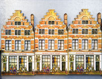 Amsterdam houses souvenirs Royalty Free Stock Photos