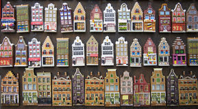 Amsterdam houses souvenirs Stock Images