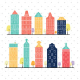 Amsterdam houses style variation pastel color Stock Images