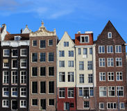Amsterdam houses. On a sunny summer day Stock Photos