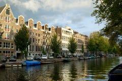 amsterdam houses traditionellt Fotografering för Bildbyråer