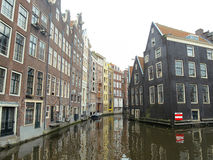 Amsterdam houses on water canals 1023 Stock Image