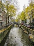 Amsterdam i höst Arkivfoto