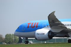 Amsterdam i Paesi Bassi - 22 aprile 2019: PH-TFM TUI Airlines Netherlands Boeing 787-8 fotografie stock