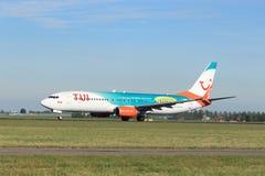 Amsterdam i Paesi Bassi - 24 maggio 2019: C-FDBD TUI Airlines Netherlands Boeing 737-800 fotografia stock libera da diritti