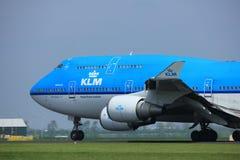 Amsterdam i Paesi Bassi - 6 maggio 2017: PH-BFE Boeing 747 Immagini Stock Libere da Diritti