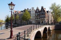 Amsterdam i vår Fotografering för Bildbyråer