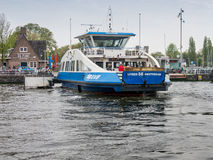 Amsterdam IJ ferry, Holland Royalty Free Stock Image