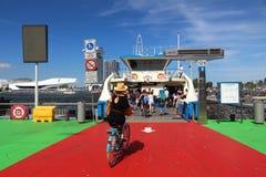 Amsterdam IJ ferry Stock Photos