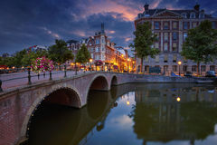 Amsterdam. Image of Amsterdam, Netherlands during dramatic sunrise royalty free stock images