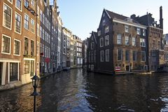 Amsterdam inner city in the Netherlands Royalty Free Stock Photo