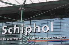Logo of Amsterdam International Airport Schiphol,Netherlands  Stock Images