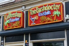 Amsterdam-Kaffeestube Lizenzfreies Stockfoto