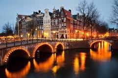 Amsterdam kanał Zdjęcie Royalty Free