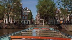 Amsterdam Kanałowa wycieczka turysyczna łodzią AMSTERDAM LIPIEC 19, 2017 - popularna zwiedzająca wycieczka - holandie - Obrazy Stock