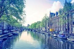 Amsterdam kanały Fotografia Stock