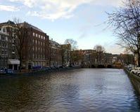 Amsterdam kanały Obrazy Royalty Free