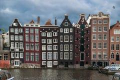 Amsterdam kanały i ulicy zdjęcia royalty free