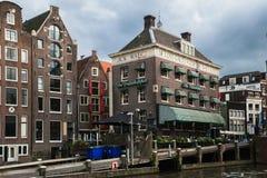 Amsterdam kanały i ulicy obrazy stock
