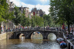 Amsterdam Kanał Obraz Stock