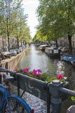 Amsterdam kanał obraz royalty free