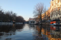 Amsterdam kanał fotografia stock