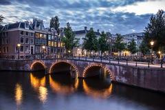 Amsterdam Kanału Domy Fotografia Stock