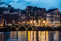 Amsterdam kanału domy Obraz Royalty Free